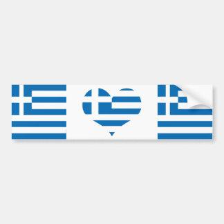 Greece Greek flag Bumper Sticker