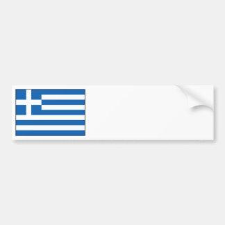 Greece – Greek Flag Bumper Sticker