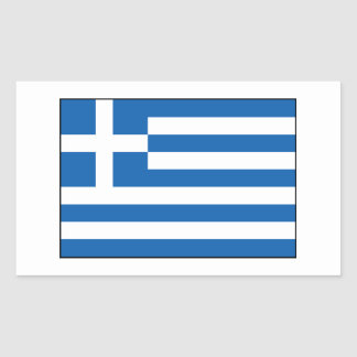 Greece – Greek Flag Rectangular Sticker