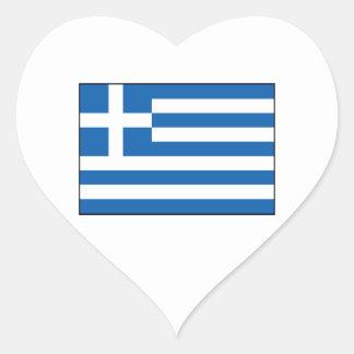 Greece – Greek Flag Heart Sticker