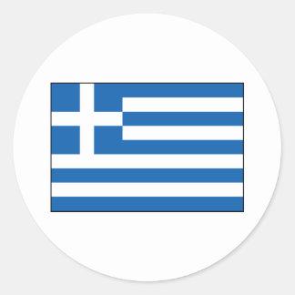 Greece – Greek Flag Classic Round Sticker