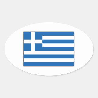 Greece – Greek Flag Oval Sticker
