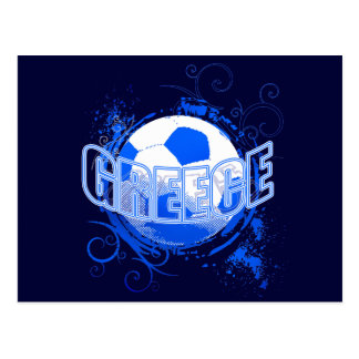 Greece grunge Soccer Ball T-shirts and gifts Postcard