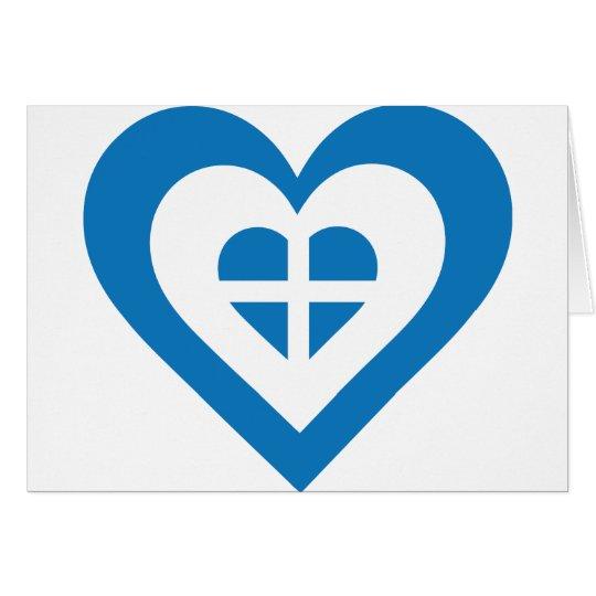 Greece Heart Card