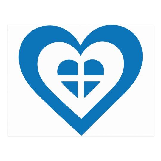 Greece Heart Postcard