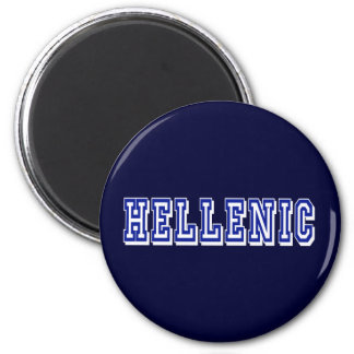 Greece Hellenic Logo gifts 2 Inch Round Magnet
