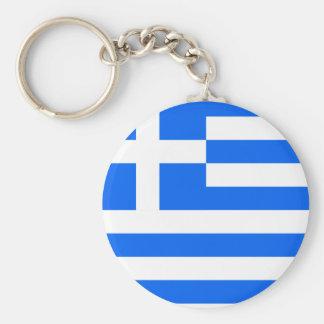 Greece High quality Flag Basic Round Button Keychain