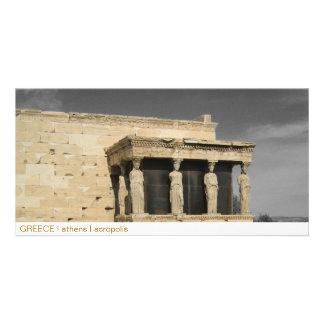 GREECE I athens I acropolis Personalized Photo Card