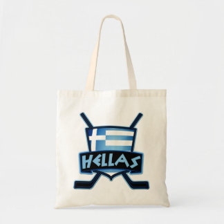 Greece Ice Hockey Shopping Bag