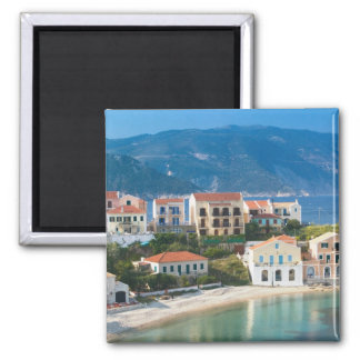 GREECE, Ionian Islands, KEFALONIA, Assos: 2 2 Inch Square Magnet