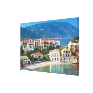 GREECE, Ionian Islands, KEFALONIA, Assos: 2 Canvas Print
