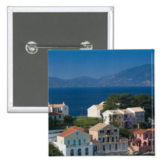 GREECE, Ionian Islands, KEFALONIA, Assos: 2 Inch Square Button