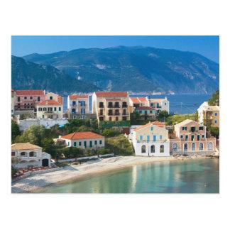 GREECE, Ionian Islands, KEFALONIA, Assos: 2 Postcard