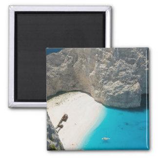 GREECE, Ionian Islands, ZAKYNTHOS, SHIPWRECK 2 Inch Square Magnet