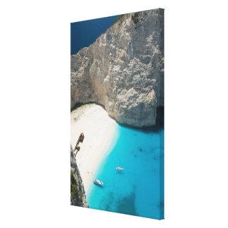 GREECE, Ionian Islands, ZAKYNTHOS, SHIPWRECK Canvas Print