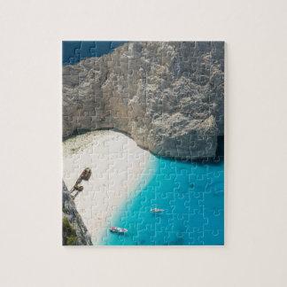 GREECE, Ionian Islands, ZAKYNTHOS, SHIPWRECK Jigsaw Puzzle