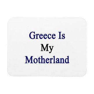 Greece Is My Motherland Rectangular Photo Magnet