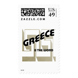 GREECE IS THE WORD POSTAGE STAMPS
