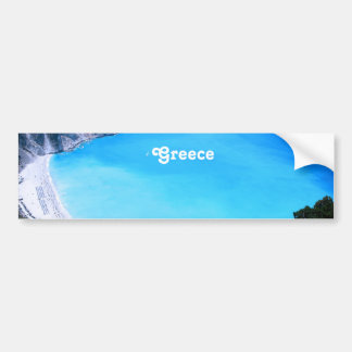 Greece Landscape Bumper Sticker