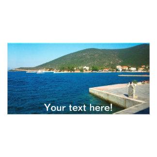 Greece landscape photo card