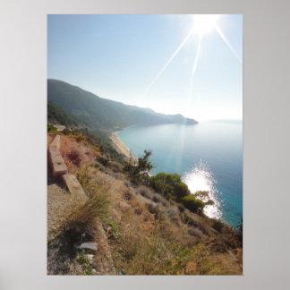 Greece Lefkada Agios Nikitas Breathtaking picture Poster