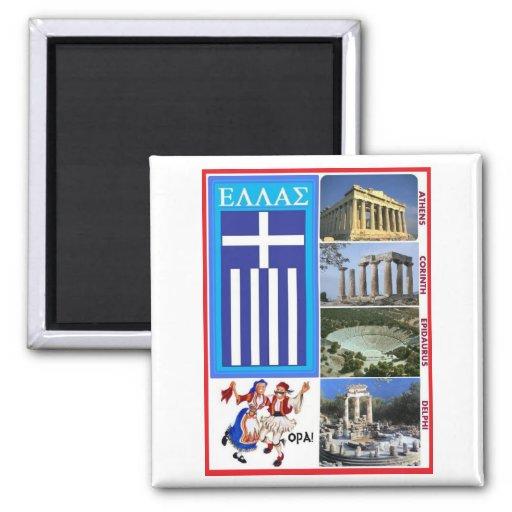 GREECE REFRIGERATOR MAGNETS
