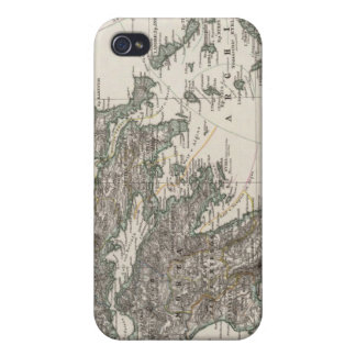 Greece Map by Stieler iPhone 4 Case