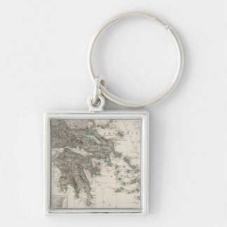 Greece Map by Stieler Keychain