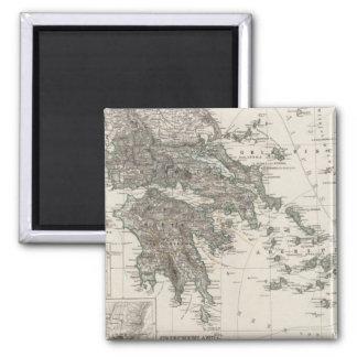 Greece Map by Stieler Magnet