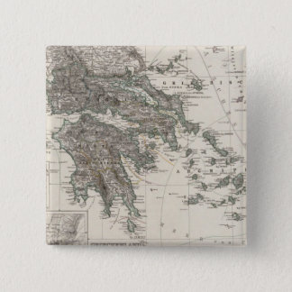 Greece Map by Stieler Pinback Button