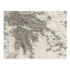 Greece Map by Stieler Postcard