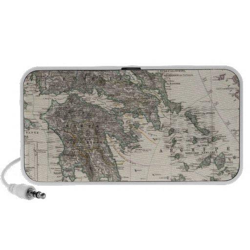 Greece Map by Stieler Speaker
