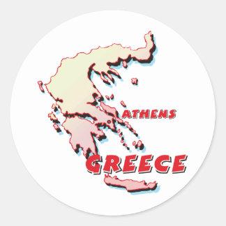Greece Map Classic Round Sticker