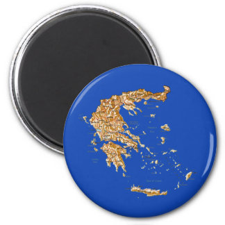 Greece Map Magnet