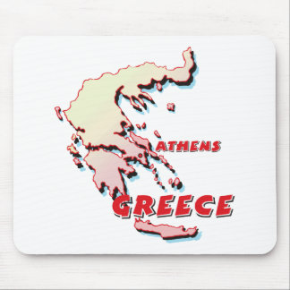Greece Map Mouse Pad