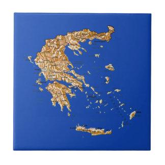 Greece Map Tile