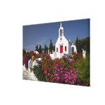 Greece, Mykonos, Cute little chapel in the Canvas Print