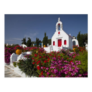 Greece, Mykonos, Cute little chapel in the Postcard