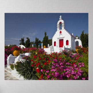 Greece, Mykonos, Cute little chapel in the Poster