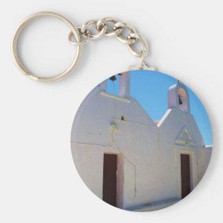 Greece - Mykonos Basic Round Button Keychain