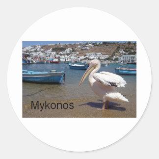 Greece Mykonos PETROS  (St.K) Classic Round Sticker