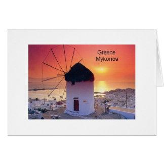 Greece Mykonos Sunset (St.K) Card