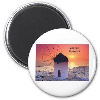 Greece Mykonos Sunset (St.K) Magnet