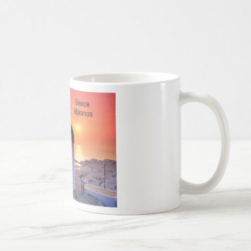 Greece Mykonos Sunset (St.K) Classic White Coffee Mug