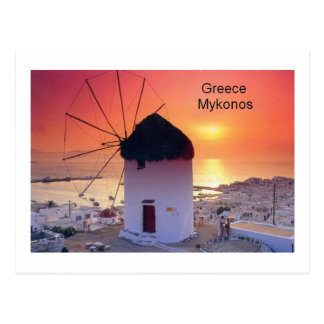 Greece Mykonos Sunset (St.K) Postcards