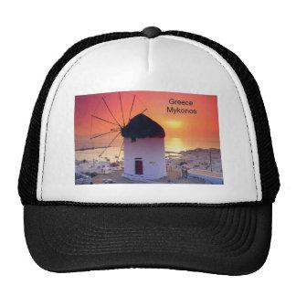 Greece Mykonos Sunset (St.K) Trucker Hat