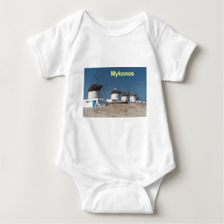 Greece Mykonos Windmills (Aggel) Baby Bodysuit