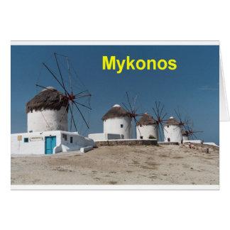 Greece Mykonos Windmills (Aggel) Card