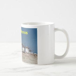 Greece Mykonos Windmills (Aggel) Coffee Mug