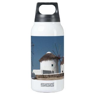 Greece Mykonos Windmills (Aggel) Insulated Water Bottle